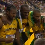 Jamaican team in London, Jamaica vs usa