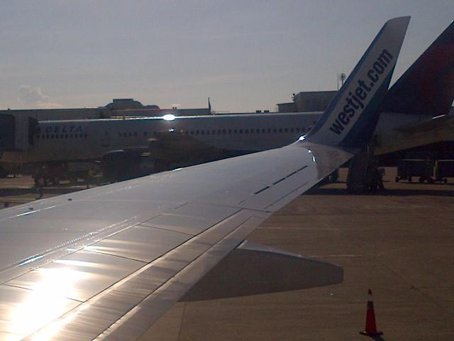 View from Westjet Plane