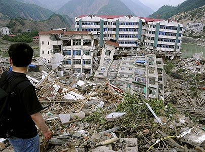 damged homes china earthquake