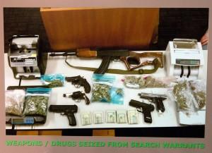 drug money, guns from drugs