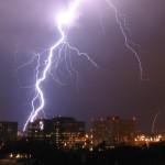 real lightning bolt flash with Usain Bolt