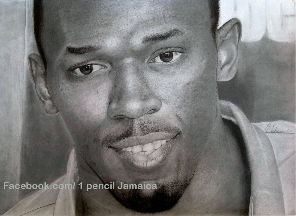 best drawing of Usain Bolt, best picture of Usain Bolt