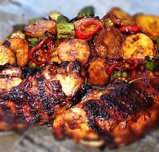 Jerk chicken Jamaican style