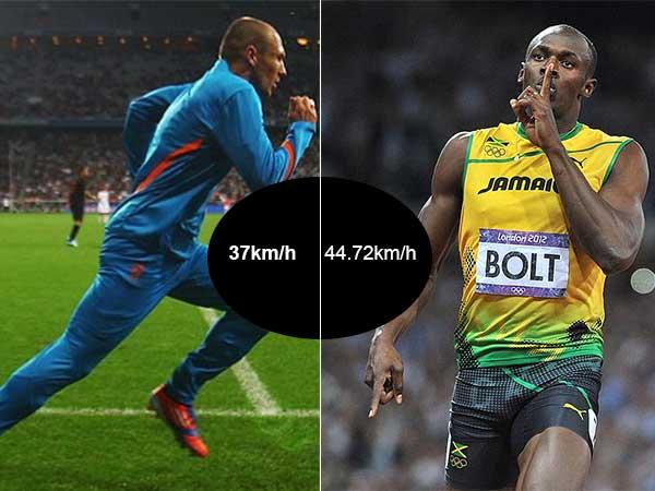 a combien de km h court usain bolt