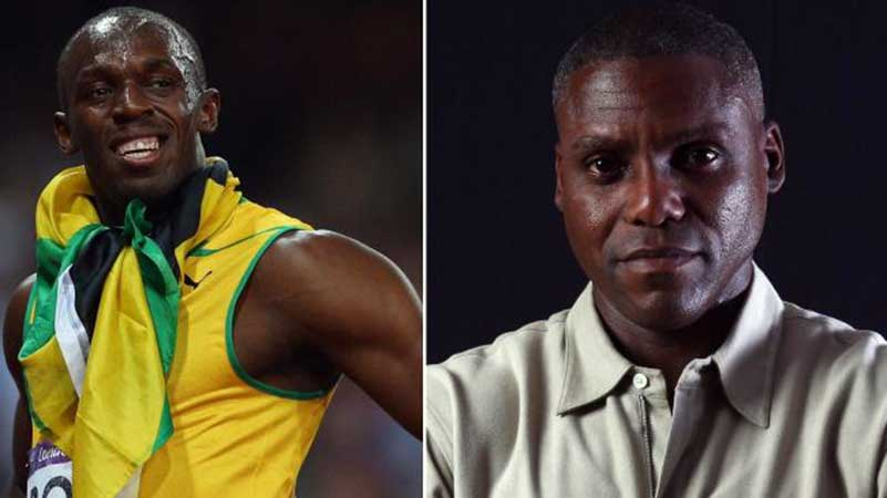 Usain Bolt and Carl Lewis unite
