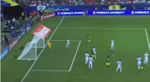Jamaica scores against the USA - GOld Cup 2015 - via Youtube/CONCACAF