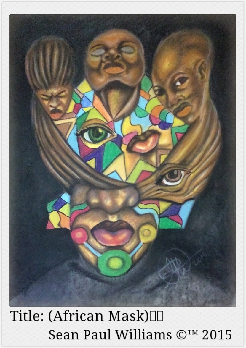 African Mask by Sean Paul Williams