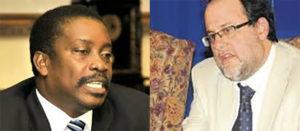 National Security Minister Robert Montague(left) and Mark Golding via jamaicaobserver.com