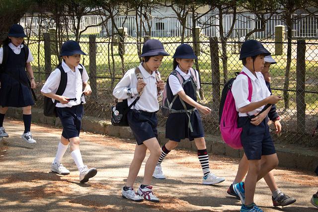 Japanese school children via Flickr