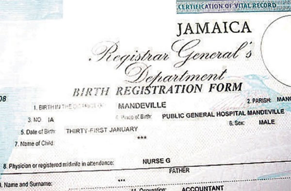 Govt wants fathers names placed on all birth certificates the govt wants fathers names placed on all birth certificates the jamaican blogs yadclub Images