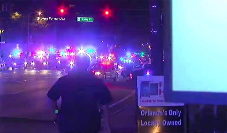 Scene close to recent Orlando massacre via Youtube