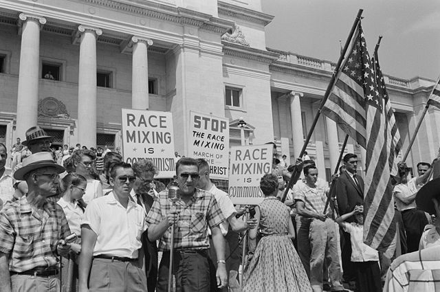 A rally against school integration in 1959.